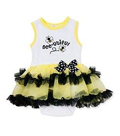 Baby Essentials® Baby Girls' Bee-Utiful Printed Bodysuit And Tutu Set
