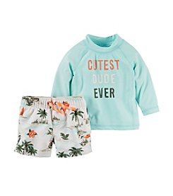 Carter's® Baby Boys Cutest Dude Ever Printed Shirt and Shorts Set