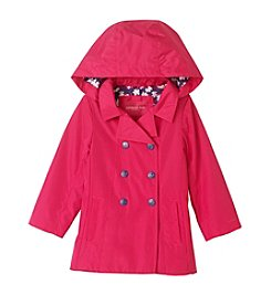 London Fog® Baby Girls' Solid Trench Jacket