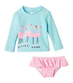 Carter's® Baby Girls' Flamingo Printed Rashguard Set