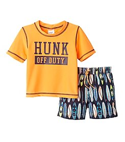 Carter's® Baby Boys Hunk Off Duty Printed Rashguard Set