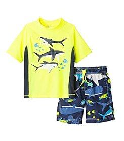 Carter's® Baby Boys Shark Printed Rashguard Set