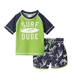 Carter's® Baby Boys Surf Dude Printed Rashguard Set