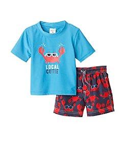 Carter's® Baby Boys Local Cutie Crab Printed Rashguard Set