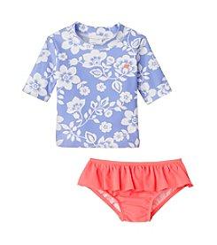 Carter's® Baby Girls' Hawaiian Floral Printed Rashguard Set
