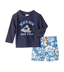 Carter's® Baby Boys Beach Bum Monkey Printed Rashguard Set