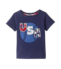 Mix & Match Baby Boys' Short Sleeve U.S.A. Baseball Printed Tee