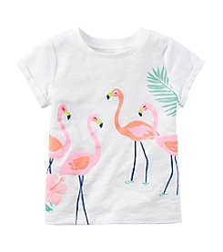 Carter's® Girls' 2T-6X Short Sleeve Flamingo Printed Tee