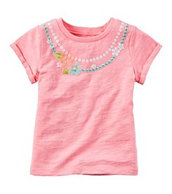 Carter's® Girls' 2T-6X Short Sleeve Necklace Printed Tee
