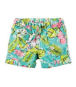 Carter's® Girls' 2T-6X Printed Poplin Shorts