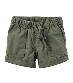 Carter's® Girls' 2T-6X Solid Poplin Shorts