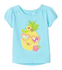 mix&MATCH Girls' 2T-6X Pineapple Printed Puff Sleeve Tee