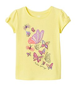 mix&MATCH Girls' 2T-6X Butterfly Printed Bow Sleeve Tee