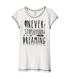 Beautees Girls' 7-16 Never Stop Dreaming Short Sleeve Tee