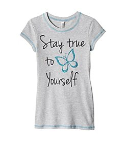 Beautees Girls' 7-16 Stay True To Yourself Short Sleeve Tee