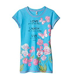Beautees Girls' 7-16 Love Laugh Live Short Sleeve Tee