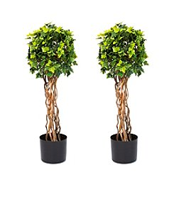 Pure Garden Set of 2 English Ivy Single Ball 30