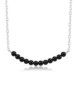 Designs by FMC Sterling Silver & Onyx Bead Necklace