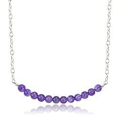 Designs by FMC Sterling Silver & Amethyst Bead Necklace