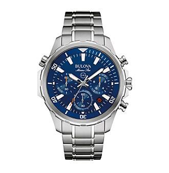Bulova® Men's Silvertone Watch