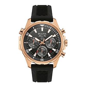 Bulova® Men's Rose Goldtone Watch
