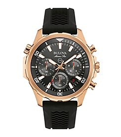 Bulova® Men's Rose Goldtone Watch