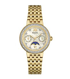 Bulova Women's Goldtone Stainless Steel Diamond Watch