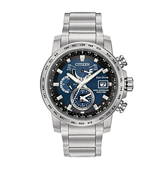 Citizen® Men's Eco-Drive Stainless Steel World Time A-T