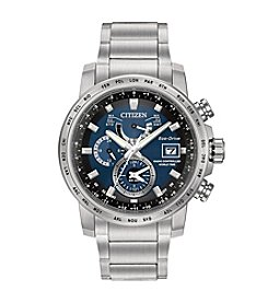 Citizen® Men's Eco-Drive Stainless Steel World Time A-T Watch