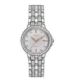 Citizen® Women's Eco-Drive Stainless Steel Silhouette Crystal Watch