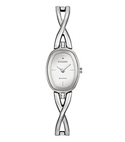 Citizen® Women's Eco-Drive Stainless Steel Silhouette Bangle Watch