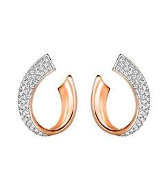 Swarovski® Rose Goldtone Exist Small Pierced Earrings