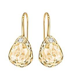 Swarovski® Goldtone Parallele Pierced Earrings