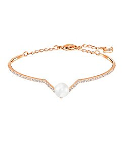 Swarovski® Rose Goldtone Edify Bangle Bracelet