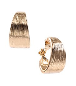 Anne Klein® Goldtone Clip Hoop Earrings