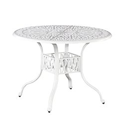 Home Styles® Floral Blossom White Round Dining Table