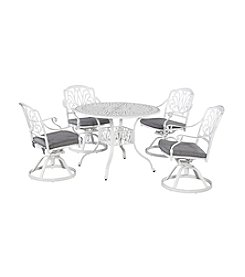 Home Styles® Floral Blossom White 5-pc. Swivel Chair Dining Set