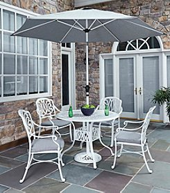 Home Styles® Floral Blossom White 5-pc. Straight Legged Dining Set with Umbrella