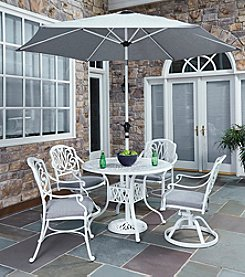 Home Styles® Floral Blossom White 5-pc. Dining Set with Umbrella