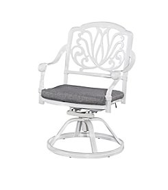 Home Styles® Floral Blossom White Swivel Chair with Cushion