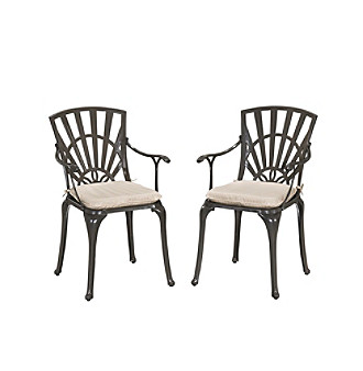 Home Styles® Largo Dining Chair Pair with Cushions