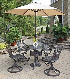 Home Styles® Largo 5-pc. Swivel Chair Dining Set with Umbrella