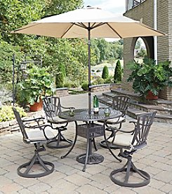 Home Styles® Largo 5-pc. Swivel Chair Dining Set with Umbrella and Cushions