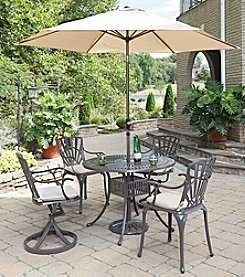 Home Styles® Largo 5-pc. Mixed Chair Dining Set with Umbrella and Cushions