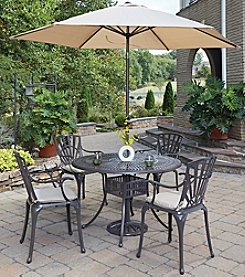 Home Styles® Largo 5-pc. Straight Legged Dining Set with Umbrella and Cushions