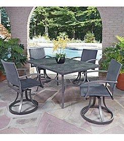 Home Styles® Stone Veneer 5-pc. Swivel Chair Dining Set