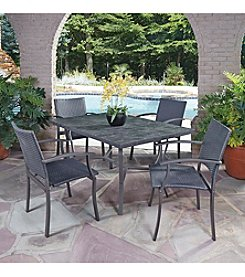 Home Styles® Stone Veneer 5-pc. Straight Legged Dining Set