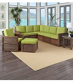 Home Styles® Barnside 4-pc. Seating & Table Set with Green Apple Cushions