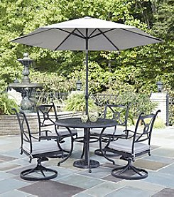 Home Styles® Athens 5-pc. Swivel Chair Dining Set with Umbrella