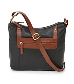 Great American Leatherworks Leather Two Tone Hobo Crossbody